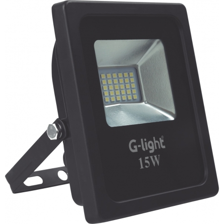 Refletor Led Slim Luz Rgb Colorida Smd Ip65 15w G-light
