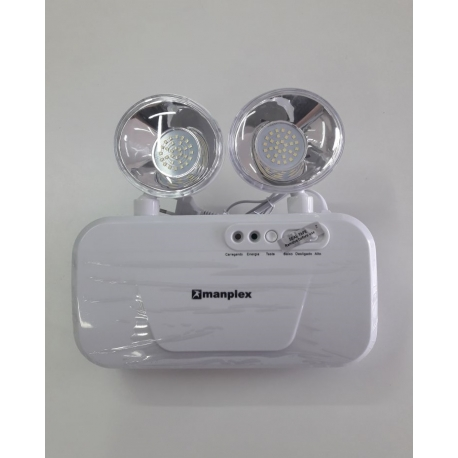 Luminária De Emergência Bloco Led 3080 Lumens 2 Faróis 600m²