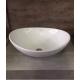 Cuba Banheiro Apoio Oval Cerâmica Branca 7007 Manplex